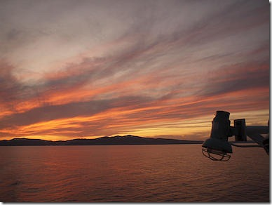 礼文島の夕焼け
